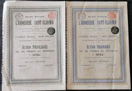 RARE: 2 X Sté De L'Ardoisière Saint-Vladimir - 1897 - Sin Clasificación