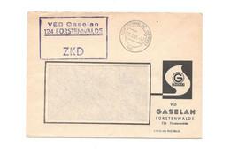 ZKD Kastenstempel Auf Firmenumschlag VEB Gaselan Fürstenwalde 1966 - Dienstpost