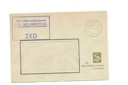 ZKD Kastenstempel Auf Firmenumschlag VEB Erdölverarbeitungswerk Schwedt 1967 - Dienstpost