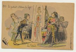 Carte Fantaisie Signée Illustrateur B. MOLOCH - Le Portrait à Travers Les âges - Le Vitrail - Moloch