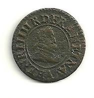 DENIER Tournois Henri IV 1607 A - 1589-1610 Henri IV Le Vert-Galant