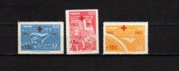 Panama 1963 Space, Red Cross Set Of 3 With Overprint MNH - Südamerika