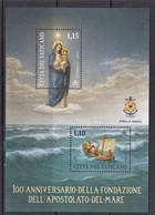 13.- VATICAN CITY 100 ANNIVERSARY OF FOUNDATION APOSTOLATE OF THE SEA - Nuevos