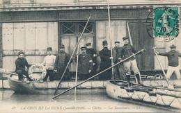 92 - CLICHY - La Crue De La Seine (janvier 1910) - Les Sauveteurs - Clichy