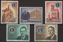 SAN MARINO 1960 - Fondazione Lions Club - 5 Valori ** (1163) - Neufs