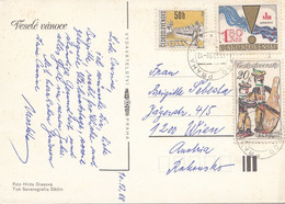 CSSR 1988 - 3 Fach Frankierung Auf Ak Weihnachtskrippe - Brieven En Documenten