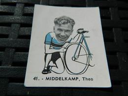 CYCLISME:CHROMO DES ANNEES 40/50 GEANTS DE LA ROUTE-DE THEO MIDDELKAMP BELGIQUE -BELGIAN CHEWING GUM ANTERPEN - Ciclismo