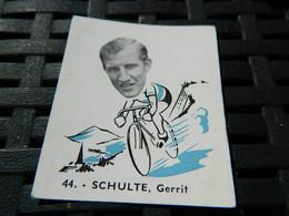 CYCLISME:CHROMO DES ANNEES 40/50 GEANTS DE LA ROUTE-DE SCHULTE GERRIT PAYS-BAS -BELGIAN CHEWING GUM ANTERPEN - Ciclismo