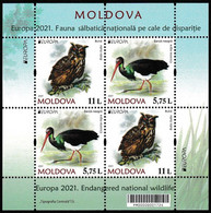 Moldova Moldawien MNH ** 2021  Europa 2021 - Endangered National Wildlife  Booklet M - 2020
