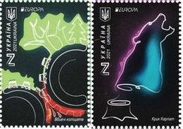 Ukraine MNH ** 2021  Europa 2021 - Endangered National Wildlife Set M - 2020