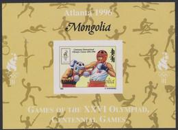 Olympics 1996 - Boxing - Basketball - Fencing - Weightlifting - MONGOLIA - S/S Imp. MNH - Summer 1996: Atlanta