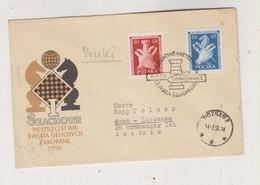 POLAND WARSZAWA 1956 Nice  Cover To Austria Chess - Brieven En Documenten