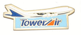 """Pin's Aéronautique """"TowerAir"""" - Compagnie Aérienne - Aerei"""