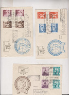 POLAND POZNAN  1956 Nice Registered  Covers To Austria Sport - Brieven En Documenten