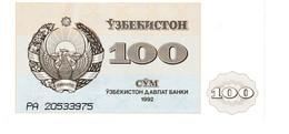 Uzbekistan P.67 100 Sum 1992  Unc - Uzbekistan