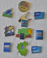 "Lot De 10 Pin's ""EDF"" - EDF GDF"