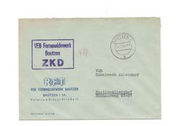 ZKD Kastenstempel Auf Firmenumschlag VEB Fernmeldwerk Bautzen 1964 - Dienstpost