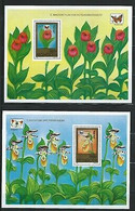 MONGOLIA Sc 2269-79 Ss Butterflies And Orchids - Orchideen