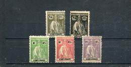 Sao Tome Et Principe 1914-21 Yt 201-206 * - Sao Tomé Y Príncipe