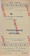 Au Plus Rapide Belgique Ostende Programme Théâtre Royal D'Ostende été 1911 - Programas