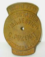 BELLE PLAQUE ANCIEN RATEAU FANEUR EN FONTE PUZENAT BOURBON LANCY JUS DE GRANGE Collection Outil Ancien - Autres
