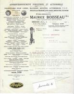 1929 Facture Maurice BOISSEAU / Fournitures Industrie & Auto / Vignette Strafor / Huile, Extincteur, Lampes / 10 Troyes - 1900 – 1949