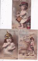 LOT/046.........10 CPA MILITAIRES ...GRAINES DE POILUS - 5 - 99 Cartoline