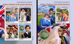 Djibouti 2021, Wedding Charles And Diana, 4val In BF +BF - Dschibuti (1977-...)
