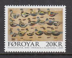 2020 Faroe Islands Birds Oiseaux Sepac JOINT ISSUE Complete Set Of 1 MNH @ BELOW FACE VALUE - Faroe Islands