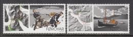 2020 Faroe Islands Europa Postal Routes Maps Boats  Complete Set Of 2 MNH @ BELOW FACE VALUE - Faroe Islands