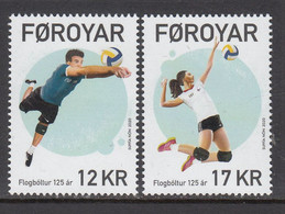 2020 Faroe Islands Volleyball  Complete Set Of 2 MNH @ BELOW FACE VALUE - Faeroër