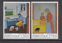 2020 Faroe Islands Art Paintings Mother Teresa Complete Set Of 2 MNH @ BELOW FACE VALUE - Faroe Islands