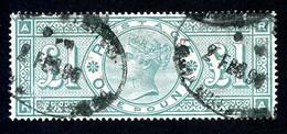 Great Britain, 1891, 1 Pound, Queen Victoria, Green, Used, Michel 99 - Non Classificati