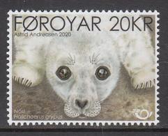 2020 Faroe Islands Seal Pup Marine Mammal Complete Set Of 1 MNH @ BELOW FACE VALUE - Isole Faroer