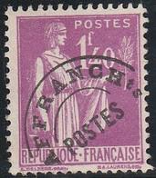 PREO.  77 - 1,40f. Lilas PAIX - Sans Gomme - 1893-1947
