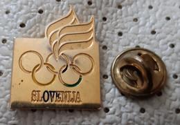 SLOVENIJA Slovenia  National Olympic Comite Coat Of Arms Flag Pin - Giochi Olimpici