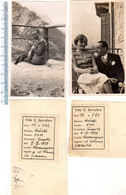 N° 2 Foto Del 1929 COURMAYEUR - Sul Balcone Dell'Hotel - N. Dame De Fucuson - Aosta