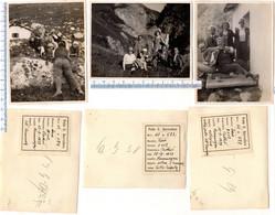 N° 3 Foto Del 1929 COURMAYEUR -  (vedi Descrizione Sulle Etichette Nel Retro Foto) - Aosta