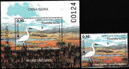 Europa Cept - 2021 - Montenegro - 1.Mini S/Sheet+1.Set - (Wildlife) ** MNH - 2020
