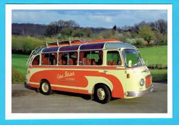 CPM Publicitaire CARS PERIER LILLEBONNE - Cp Double - Car Bus Autobus - Buses & Coaches