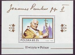 POLAND Block 91,unused,popes - Ongebruikt