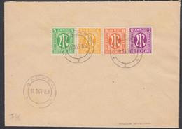 GERMANIA, BIZONA - 1945 - Quattro Valori Con Timbro FDC Su Busta: Yvert 4a/6a E 8a, Come Da Immagine. - American/British Zone