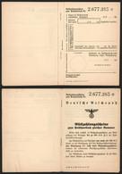Germany - Postal Savings Account Booklet, 'Rückzahlungsscheine Zum Postsparbuch Nr. 2.677.385', 1940's. - Storia Postale