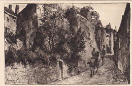 AK Laon - Porte Des Chenizelles - Gez. V. Karl Lotze - Deutsche Soldaten Zu Pferd - Ca. 1915  (56751) - Laon