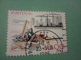 PORTUGAL : Timbre 1978 - Métiers Anciens/nouveaux : Chantier Naval Moderne / Outils - Used Stamps