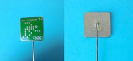 YUGOSLAV NOC For OLYMPIC GAMES LOS ANGELES 1984 - Old Enamel Pin Badge (Green #2) * Jeux Olympiques Olympia Olimpiadi - Giochi Olimpici