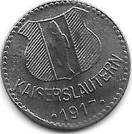*notgeld Kaiserslautern  10 Pfennig 1917 Zn  231.2f - Andere