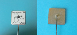 YUGOSLAV NOC For OLYMPIC GAMES LOS ANGELES 1984 - Old Enamel Pin Badge (White #2) * Jeux Olympiques Olympia Olimpiadi - Giochi Olimpici