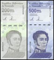 TWN - VENEZUELA 200.000 + 500.000 Bolivares 3.9.2020 UNC Set Of 2 - Starting € 0,99 - Venezuela