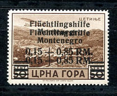 German Occupation Of Montenegro, 1944, Aid For Refugees, ERROR, DOUBLE Overprint, Marked On Back, MNH, Michel 26 I (DD) - Non Classificati